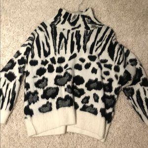 Zebra turtleneck sweater